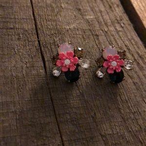 Multi Colored Stone Earrings JCREW